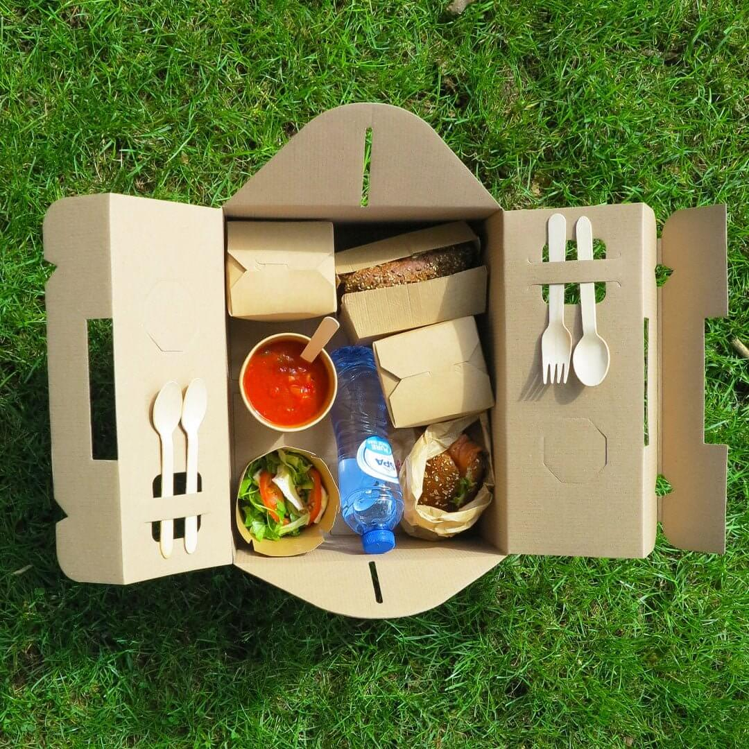 Picknickbox van karton