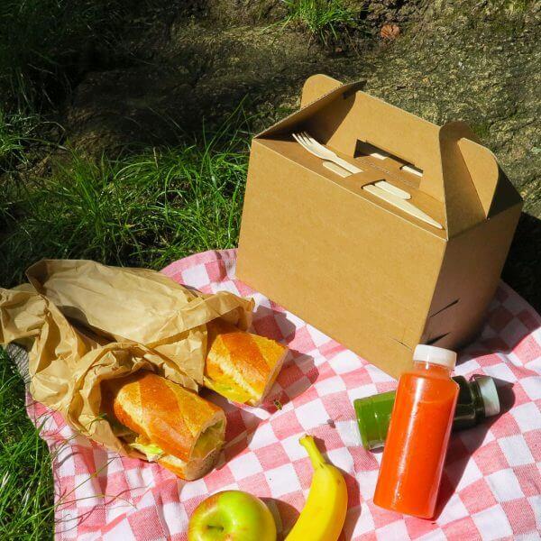 Picnicbox voor catering van golfkarton
