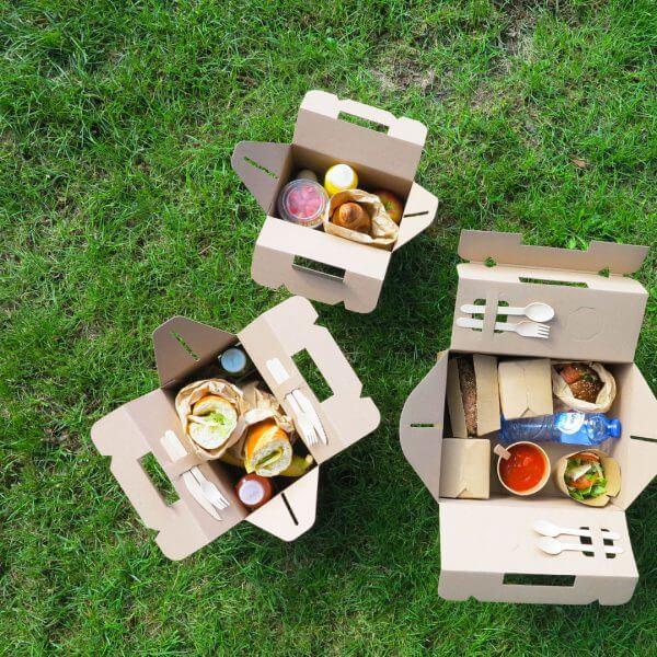 Catering picknick boxen van karton