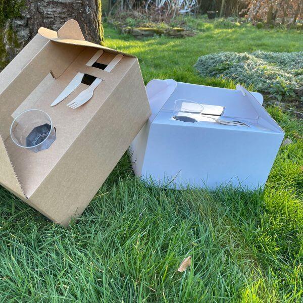 Kraft take away doos met handvat
